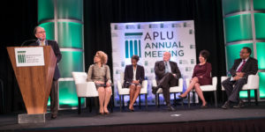 Kevin Reilly on stage at APLU 2016