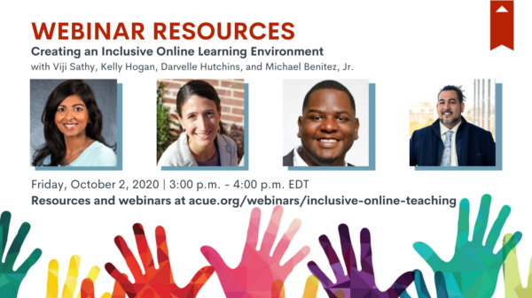 Creating an Inclusive Online Learning Environment: Webinar Recap
