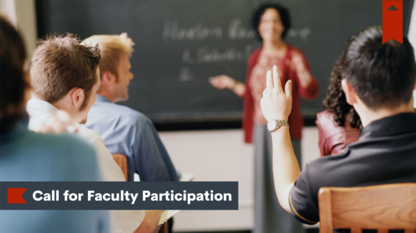 Call for Faculty Participation