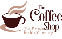 logo for the coffee shop professional learning community
